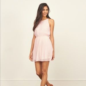 (EC) Abercrombie&fitch pink chiffon mini dress